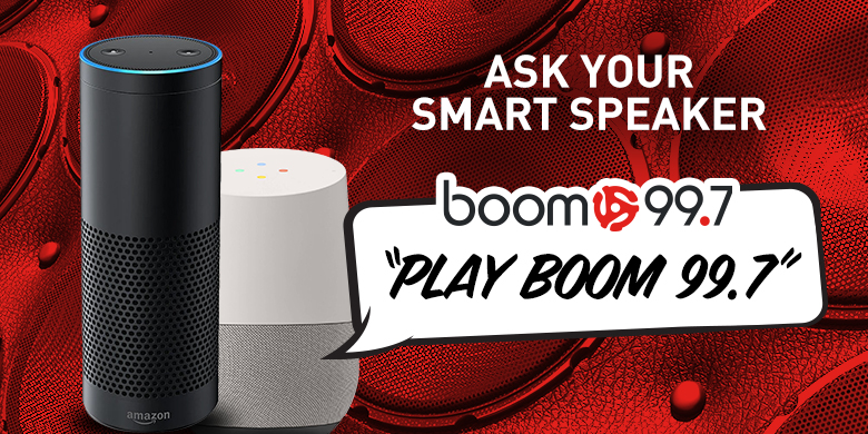 Ask Your Smart Speaker to Play boom 99.7